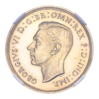 George VI 1937 Gold 2 Pounds Proof NGC PF62 Cameo