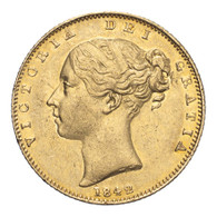 Great Britain Victoria 1842 Gold Sovereign Closed 2 Good very fine