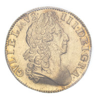 William III 1701 Gold Guinea Narrow crowns PCGS MS3