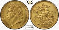 Great Britain George IV 1822 Gold Sovereign PCGS AU58 #34021885