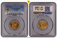 Australia George V 1912 M Gold Sovereign PCGS MS64 #35718896