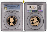 Great Britain Elizabeth II 1982 Gold 2 Pounds Proof PCGS PR69 DCAM #38183541