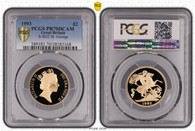 Great Britain Elizabeth II 1993 Gold 2 Pounds Proof PCGS PR70 DCAM #38183168