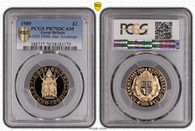 Great Britain Elizabeth II 1989 Gold 2 Pounds Proof PCGS PR70 DCAM #38183179