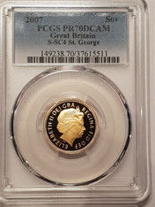 Great Britain Elizabeth II 2007 Gold Sovereign Proof PCGS PR70 DCAM #37615511