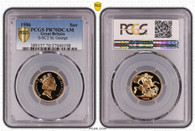Great Britain Elizabeth II 1986 Gold Sovereign Proof PCGS PR70 DCAM #37040198