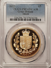 Great Britain Elizabeth II 2002 Gold 5 Pounds Proof PCGS PR70 DCAM #37924236