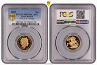 Great Britain Elizabeth II 2001 Gold Sovereign Proof PCGS PR70 DCAM #37040255