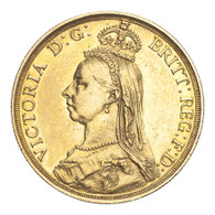 Great Britain Victoria 1887 Gold 2 Pounds Good very fine