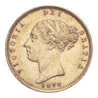 Great Britain Victoria 1878 Gold Half-Sovereign Die number 24 About extremely fine