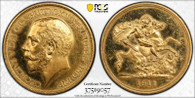 Great Britain George V 1911 Gold 5 Pounds Proof PCGS PR62 CAM #37519057