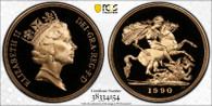 Great Britain Elizabeth II 1990 Gold 5 Pounds Proof PCGS PR69 DCAM #38334154