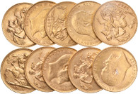 The coins in the picture are stock photos taken from coins of a similar batch. The quality may vary, see the product description.