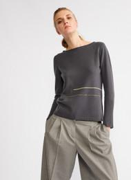 Fabiana Filippi Long Sleeve Graphite Woollen Pullover