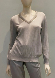Fabiana Filippi Cotton V-Neck Pullover