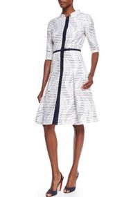 Carolina Herrera Button Front Dress