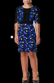 Carolina Herrera Leaf Print Dress