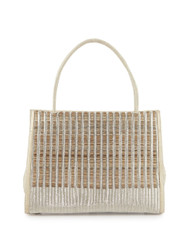Nancy Gonzalez Wallis Woven Crocodile and Horse Hair Handbag