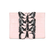 Nancy Gonzalez Pink Caiman Bag with Butterflies