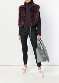 Fabiana Filippi Plum Fox Fur Vest