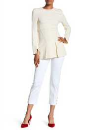 Max Mara Messina Stretch Pants with Button Detail