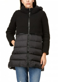 Herno Half Knit Puffer Coat