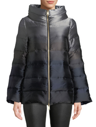 Herno Ombre Short Jacket with Bell Sleeves