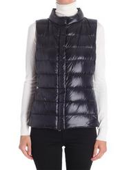 Herno Black Short Fitted Vest