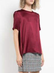 Adam Lippes Printed Silk Crepe T-Shirt