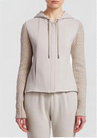 Gentry Portofino Cashmere Sleeve Sweatshirt