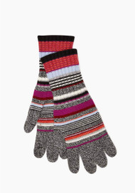 JED Cashmere Improvisation Stripe Gloves