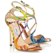 Jimmy Choo Lang Satin Palm Print