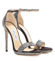 Jimmy Choo Kaylee Crystal-Embellished Satin Pump