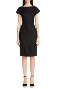 Adam Lippes Black Pleat Dress