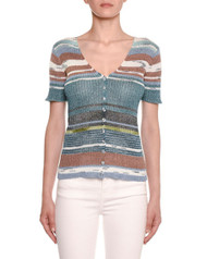 Missoni Short-Sleeve Knit Cardigan