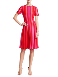 Carolina Herrera Pleated Dress