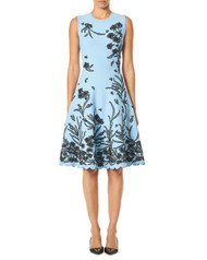 Carolina Herrera Floral Jacquard Dress