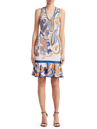 Roberto Cavalli Paisley Peplum Dress