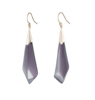 Alexis Bittar Faceted Wire Dangle Earrings Deep Lilac