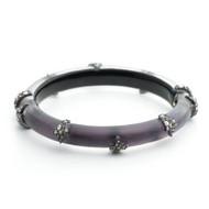 Alexis Bittar Skinny Studded Hinge Bracelet Deep Lilac