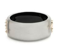 Alexis Bittar Golden Studded Hinge Bracelet Grey