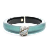 Alexis Bittar Crystal Encrusted Roxbury Cluster Hinge Bracelet Teal Blue