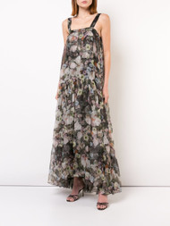 Adam Lippes Floral Organza Gown