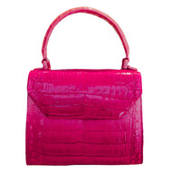 Nancy Gonzalez Mini Fushia Caiman Crossbody Bag