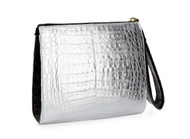 Nancy Gonzalez Monochromatic Crocodile Wristlet