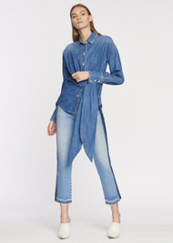 Jonathan Simkhai Patchwork E-Cig Jeans