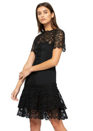 Jonathan Simkhai Lace Mini Tee Dress