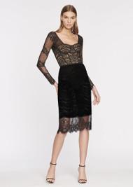 Jonathan Simkhai Black Mixed Lace Bustier Dress