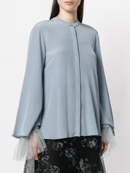 Dorothee Schumacher Mandarin Silk Crepe Blouse
