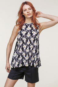 Dorothee Schumacher Flower Breeze Top in Dark Blue Orchid
